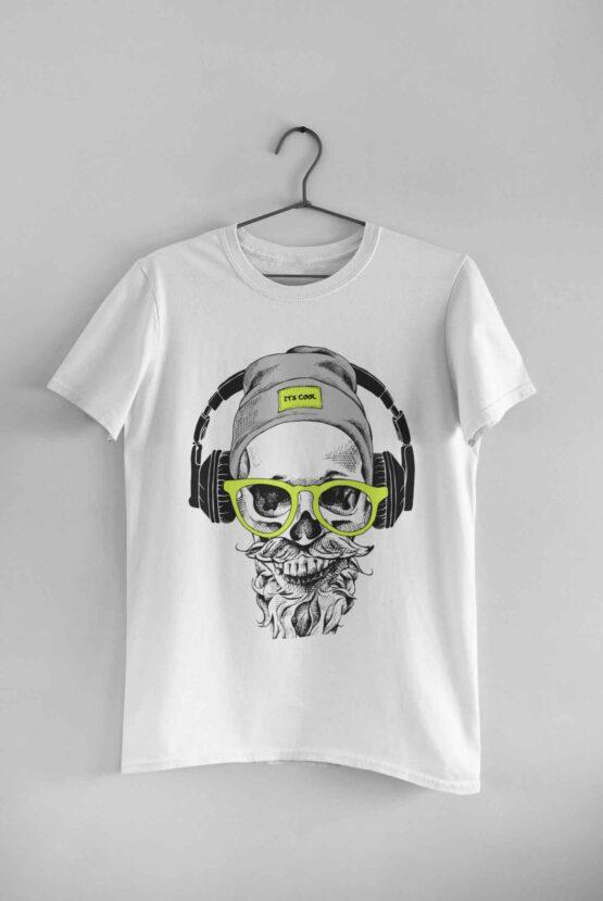 Tricou Hipster Skull