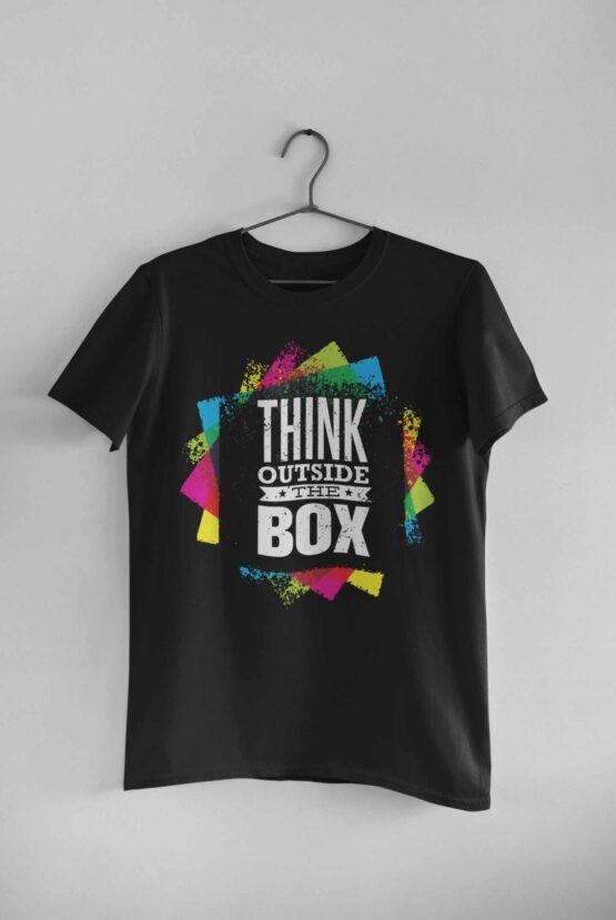 Tricou Think Outside The Box 2 Negru