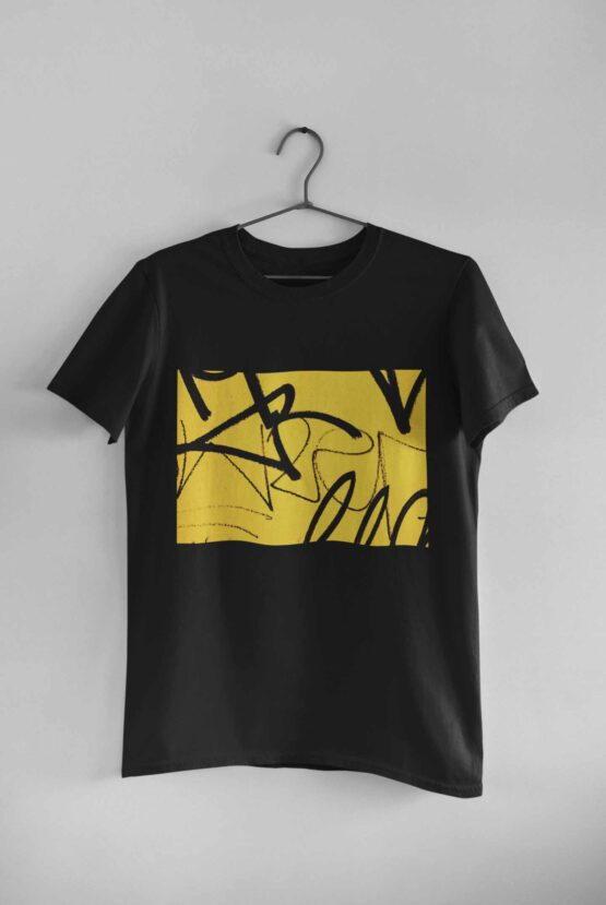 Tricou Yellow Graffiti 3 Negru
