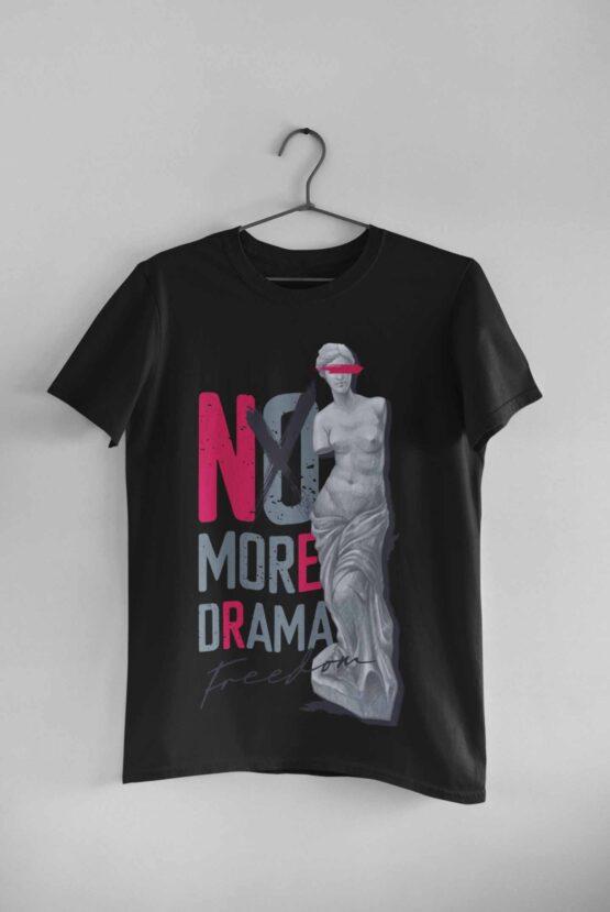 Tricou No More Drama Negru
