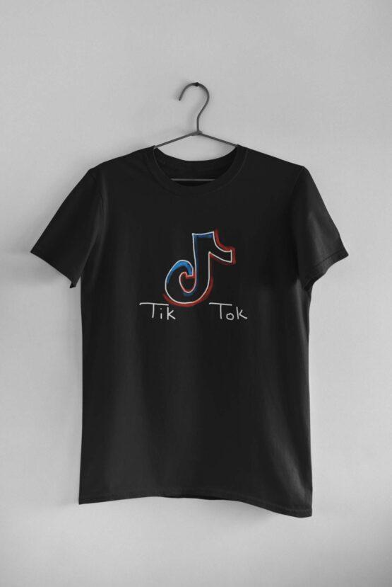 Tricou Tik Tok Cool Neon 2 – Negru